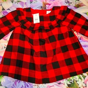 Nwt gap plaid dress baby girls 3-6 m